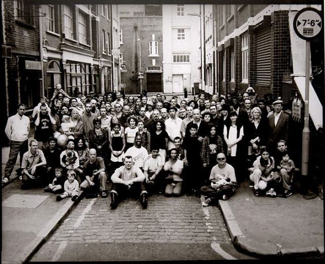 Great Day In Hoxton - The Chaser Family -1998  Photography:  Peter Williams