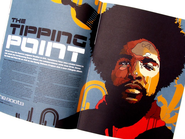 CLASSIC! Mitchy Bwoy's @uestlove spread & illustration