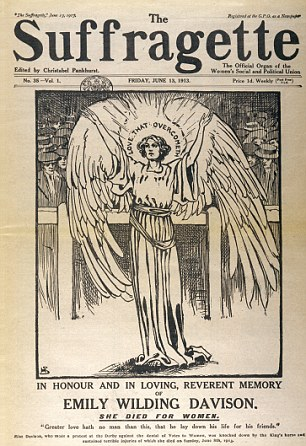 Emily Wilding Davison  : 11 October 1872 – 8 June 1913)