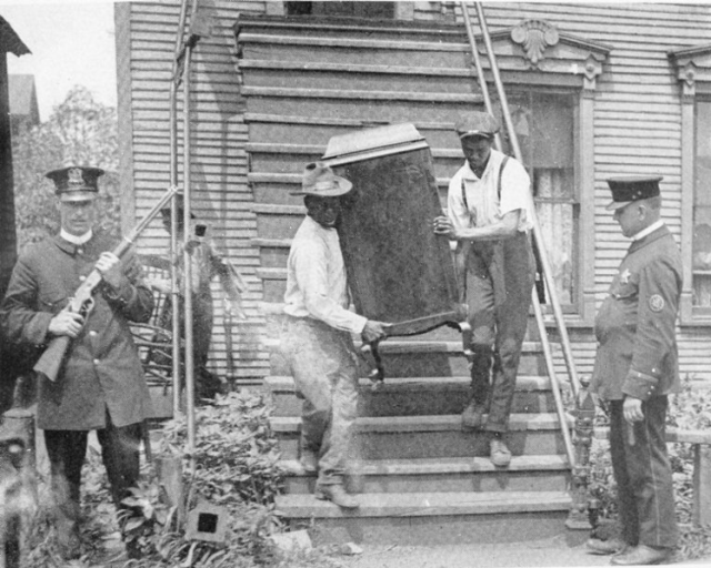 A family vacates their house - 1919 Chicago Race Riots