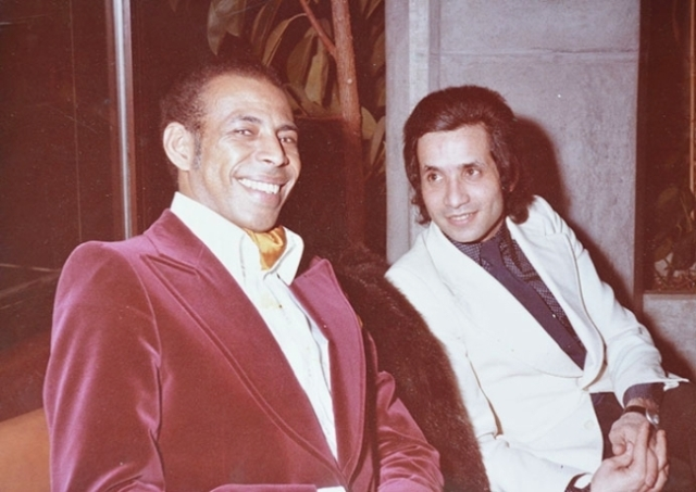 José Prates ao lado de Gino Askanasy, filho de Miécio, durante viagem da Brasiliana