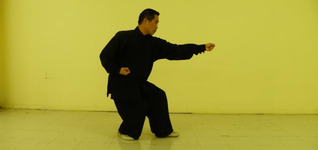 Xing Yi master Yang Hai  demonstrates Beng Quan